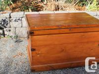 Antique Large Pine Blanket Chest..36 x 24 x