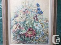 "Carey Newman print 55/75 26""x21"" $250 B.Ferber roses on"