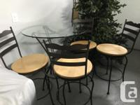 All stools and table are in excellent shape. The set is