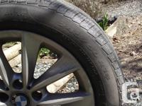 """Four 18"""" rims and tires From 2011 BMW X3 Selling due to"""