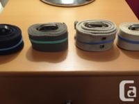 I have 4 Canvas belts with double ring metal buckles: 1