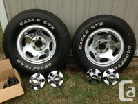 I have 4 excellent condition chrome Chevy truck rims,