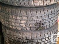 Selling 4 Winter season P215/60R16 Climate Master Tires