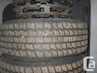 I have 4 studded Cooper Snow Tires for sale. They are