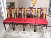4 Elegant Rosewood chairs with Pearl Embossing , Early