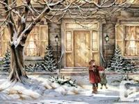 4 winter scenes by Trisha Romance. Pictures themselves