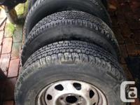 Hi, I have 4 tires and rims off a 95 Jimmy for sale.