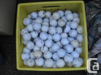 4 good used Golf balls for 1 dollar is .25 cents each a