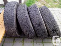 4 hakkapeliitta nokian studded winter tires 235/85/16