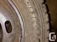 4 Hankook branded - on rim - winter tires. Great shape