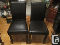 I am selling these 4 leather PU chairs for $100. They