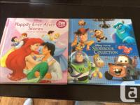 Three large Disney books and one My Little Pony book,