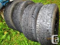 I have 4 matching tires for sale 185/70/14 but they are