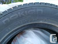 Selling 4 almost new condition winter tires without