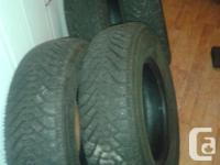 P20575/R14 4 goodyear nordic winter tires like new