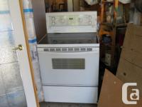 Kenmore side by side fridge. Kenmore stove with glass
