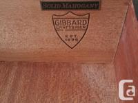 Gibbard Mahogany Dresser Set. Well made, with attention