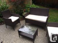 4 Piece Woodland Park Sofa set with cushions. Brand
