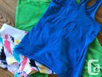 1. Ivivva Green crop pants, Luon, size 10 2. Ivivva