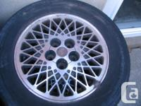 4 rims taken from older camery, 5holes, Size;14 inch if