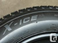 Michelin X-Ice xi3 wintertime tires 205-55-R16. Removed