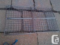 YOU ARE PURCHASING A SET OF 4 LIGHTLY UESED STEEL MESH
