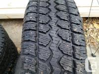 4 studded Motomaster All Terrain winter tires for