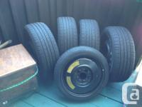 4 Hankook, Optimo H426 SUMMER tires, used less than 4