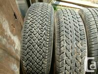 4 tires I used on my trailer. these fit GMC Safari,