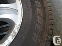 4 aluminum mag wheels and four tire for nissan rodeo