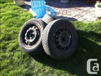 4 Toyo tires on rims 185 65R14 Treadware 360, traction