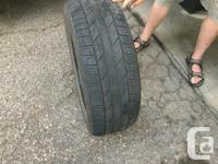 4 used Goodyear tires, 235/55 R17, lots of life left,