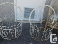 Beautiful large baskets. They need a quick spray of