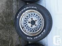 4 wheels and tires for sale. $175 for all. wheels are