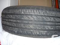4 summer season tires with rims. Radial WEST LAKE