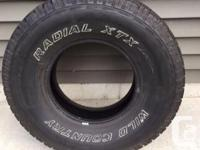 4 Wild Country RADIAL XTX 265/75R15 (all season) tires