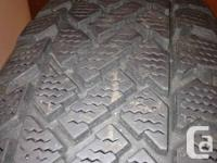 4 winter tires used only one winter; 90% tread, like
