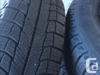 @4 Winter Tires on Rims - Michelin X-ice M+S - Size: