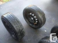 Set of 4 virtually new Hankook winter tires and steel