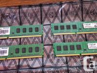 For sale, in great condition 4x2GB DDR3 sticks of