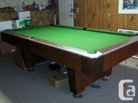 4 x 8 three-piece slate Hustler swimming pool table in