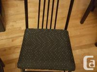 4 x Black Metal & Fabric kitchen chairs A little dusty