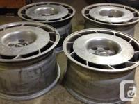 4 x Corvette polished wheels two left hand and two