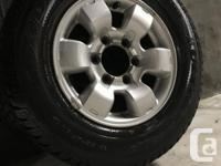 Excellent condition GOODYEAR wheels and winter tires