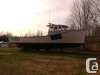 1989 wooden Drake boat with epoxy between planks. Isuzu