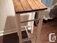 Selling a set of 4 bar height stools. The stool seats
