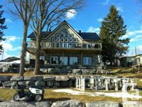 Gorgeous house on the ottawa river with 76 ft of