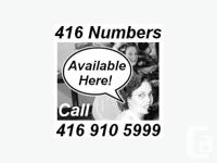 Do you require a good, easy to remember 416 area-code