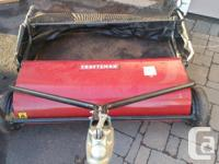 """42"""" Craftsman Lawn Sweeper Good shape Let go in one"""