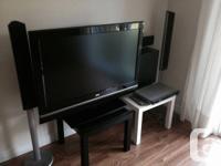 42inch LCD LG (42LB5D)/ LG DVD Player/LG Speakers.